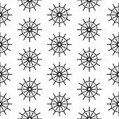 seamless pattern with steering wheels