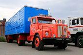 Classic Scania Vabis 75 Trailer Truck