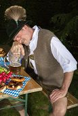 Drunk Bavarian Man