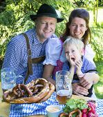 Bavarian Family In Park