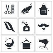 Hair Salon Icon Set