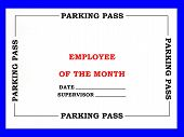 Employee Of The Month Parking Pass