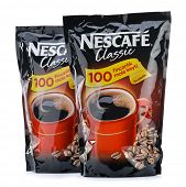 Ankara, Turkey - April 12, 2013: Nescafe refill packs isolated on white background.