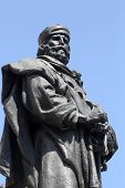PARMA, ITALY - MAY 01,2014: Giuseppe Garibaldi bronze statue. Parma is famous for its ham, cheese an