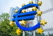 Frankfurt, Germany- July 11: Euro Sign. European Central Bank (ECB) is the central bank for the euro