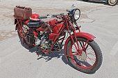 Old Motorcycle Moto Guzzi Sport 14