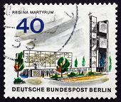 Postage Stamp Germany 1966 Regina Martyrum Memorial, Berlin
