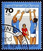 Postage Stamp Germany 1976 Volleyball, Team Sport