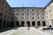 PARMA, ITALY - MAY 01,2014: Palace of Pilotta. Parma is famous for its ham, cheese and architecture.