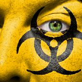Biohazard Symbol Painted On Face