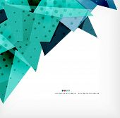 Infographic abstract geometric shape background with options