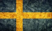 Sweden grunge flag. Vintage, retro style. High resolution, hd quality. Item from my grunge flags col