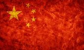 China grunge flag. Vintage, retro style. High resolution, hd quality. Item from my grunge flags coll