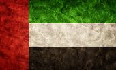 stock photo of emirates  - The United Arab Emirates grunge flag - JPG