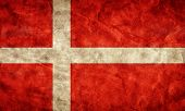 Denmark grunge flag. Vintage, retro style. High resolution, hd quality. Item from my grunge flags co