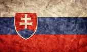 Slovakia grunge flag. Vintage, retro style. High resolution, hd quality. Item from my grunge flags collection.