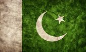 Pakistan grunge flag. Vintage, retro style. High resolution, hd quality. Item from my grunge flags collection.