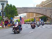 Rolling Thunder motobikes rally in Washington DC.