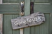 Gone To USA.