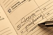 a date is entered on a calendar: tax audit