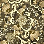 Beige Paisley With Flowers