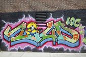 Graffiti in Williamsburg section in Brooklyn