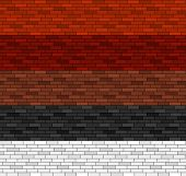 Seamless Brick Pattern In 5 Colors