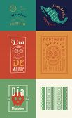 Mexican set Insignias | Day of the Dead (Spanish: Dia de Muertos)