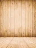 picture of log fence  - Background of old natural wooden dark empty room with messy and grungy crack beech - JPG