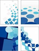 geometrische blue Vector backgrounds