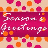 Seasons Greetings Peach Pink Circles