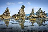 Kushimoto, Wakayama Prefecture, Japan. coastline at Hashi-gui-iwa rocks.