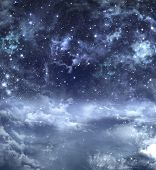 elegant blue background, night sky