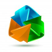 Colorful bright arrows icon
