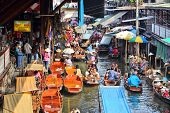 Floating Market In Asia