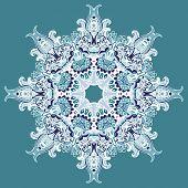 Elegant Lace Vector Winter Snowflake