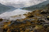 foto of bute  - Heavy cloud over Loch Long in Argyll and Bute Scotland - JPG