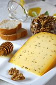 French Cheese With Caraway-seeds