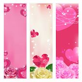 Set of vector love banners. Elements for design.