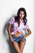 picture of cowgirls  - cowgirl girl in shorts - JPG