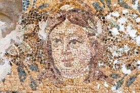 foto of hade  - Mosaic of Hades at the Roman Baths in Salamis Cyprus - JPG
