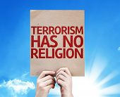 image of isis  - Terrorism Has No Religion card with beautiful day - JPG