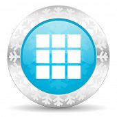 thumbnails grid icon, christmas button, gallery sign
