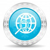 search icon, christmas button