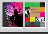 Magazine layout design. Vector