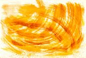 Abstract yellow strokes from watercolor
