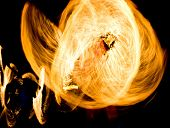 Fire Show Gasoline Dance