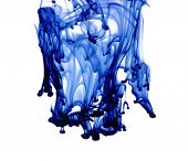 ink in water on a white background