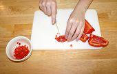 Cutting red pepper 2