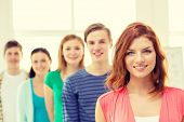 picture of teenagers  - education and school concept  - JPG